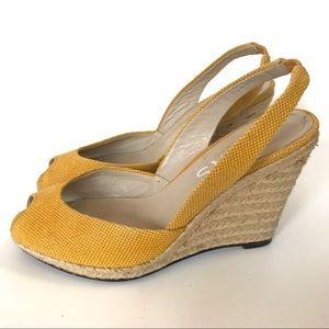 KORS MICHAEL KORS yellow espadrilles wedge- 7